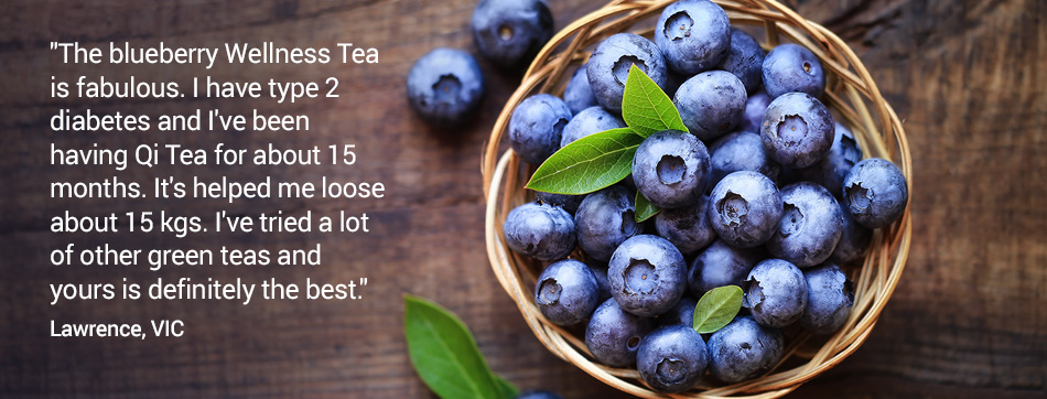 The blueberry Wellness Tea is fabulous